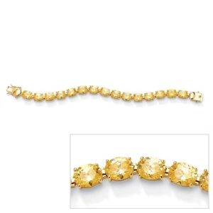 Canary Yellow Cubic Zirconia Tennis Bracelet