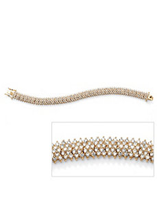 Five-Row Round Cubic Zirconia Tennis Bracelet by PalmBeach Jewelry
