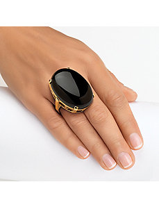 Onyx Cabochon Ring by PalmBeach Jewelry