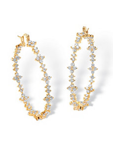 Cubic Zirconia Garland Earrings by PalmBeach Jewelry