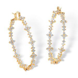 Cubic Zirconia Garland Earrings