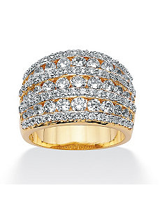 Cubic Zirconia Multi-Row Ring by PalmBeach Jewelry