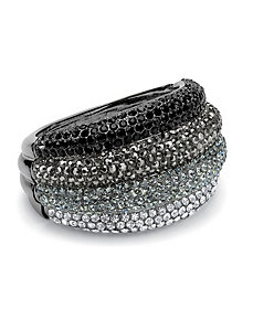 Multi-Cyrstal Bangle Bracelet by PalmBeach Jewelry