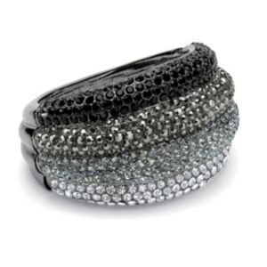 Multi-Cyrstal Bangle Bracelet