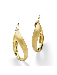 Twisted Hoop Pierced Earrings by PalmBeach Jewelry