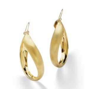 Twisted Hoop Pierced Earrings