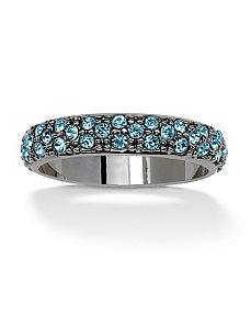 Round Birthstone Eternity Band by PalmBeach Jewelry