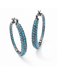 Round Birthstone Hoop Earrings by PalmBeach Jewelry