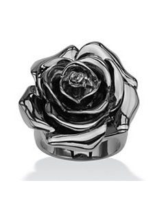 Rose-Shaped Electroform Ring by PalmBeach Jewelry