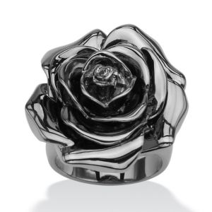 Rose-Shaped Electroform Ring