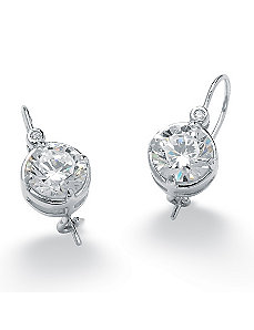 Round Cubic Zirconia Earrings by PalmBeach Jewelry