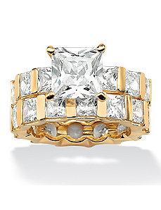 Princess-Cut Eternity Wedding Set by PalmBeach Jewelry
