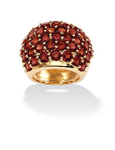 Round Garnet Dome Ring by PalmBeach Jewelry