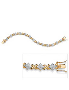 "Diamond""X & O""Bracelet by PalmBeach Jewelry"