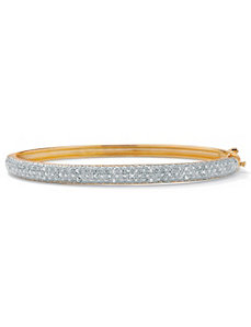 Diamond Pave Bangle Bracelet by PalmBeach Jewelry