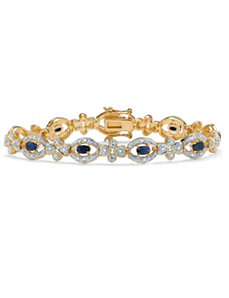 Midnight Sapphire/Diamond Bracelet by PalmBeach Jewelry