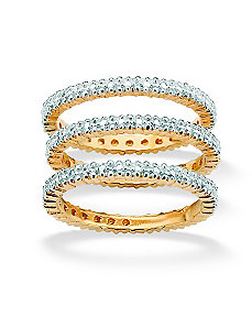 Set of 3 Diamond Accent Bands by PalmBeach Jewelry