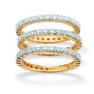Set of 3 Diamond Accent Bands