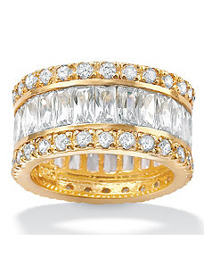 Cubic Zirconia Eternity Band Ring by PalmBeach Jewelry