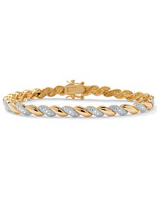 Diamond Wave Bracelet by PalmBeach Jewelry