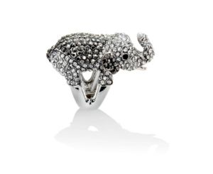 Multi-Crystal Elephant Stretch Ring