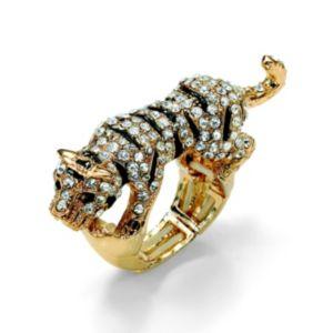 Multi-Crystal Tiger Stretch Ring