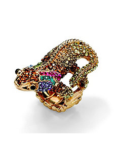 Multi-Crystal Gecko Lizard Ring by PalmBeach Jewelry