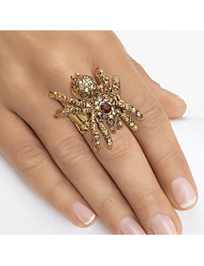 Multi-Crystal Spider Stretch Ring by PalmBeach Jewelry
