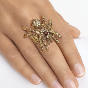 Multi-Crystal Spider Stretch Ring
