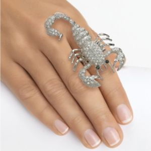Multi-Crystal Scorpion Stretch Ring