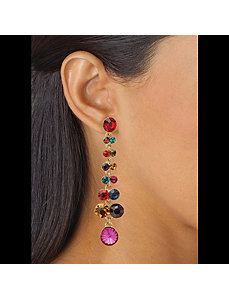 Multi-Colored Crystal Drop Earrings by PalmBeach Jewelry