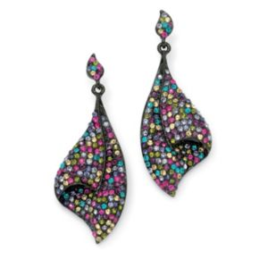 Multi-Colored Crystal Drop Earrings