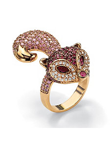 Cubic Zirconia Fox Ring by PalmBeach Jewelry