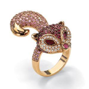Cubic Zirconia Fox Ring