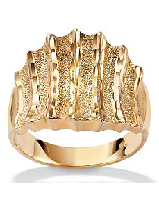 Textured Concave Ring by PalmBeach Jewelry