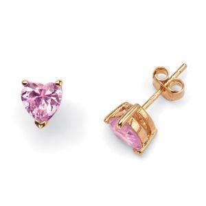 Pink Heart Pierced Earrings