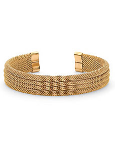 Multi-Row Mesh Cuff Bracelet by PalmBeach Jewelry
