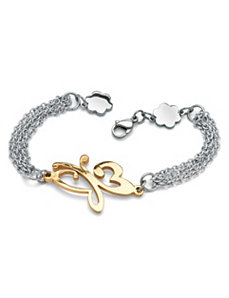Butterfly Multi-Chain Bracelet by PalmBeach Jewelry