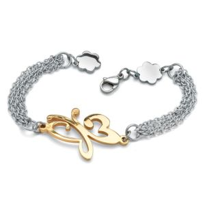 Butterfly Multi-Chain Bracelet
