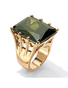 Olivine Cubic Zirconia Ring by PalmBeach Jewelry