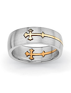 Cross Wedding Band by PalmBeach Jewelry