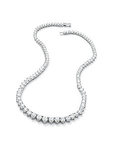 Round Cubic Zirconia Eternity Necklace by PalmBeach Jewelry