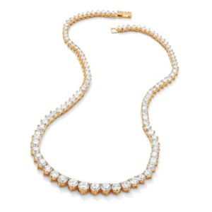 Round Cubic Zirconia Eternity Necklace