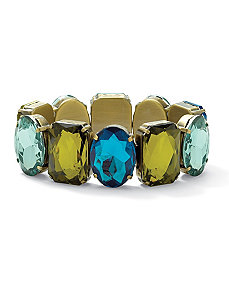 Blue and Green Lucite Bracelet by PalmBeach Jewelry