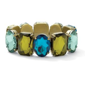 Blue and Green Lucite Bracelet