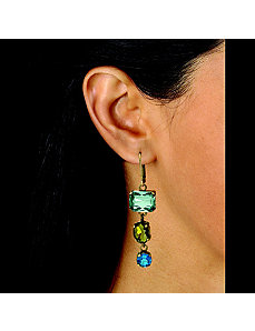 Blue and Green Lucite by PalmBeach Jewelry