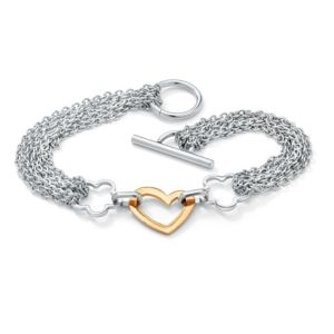 Free-Form Heart Chain Bracelet