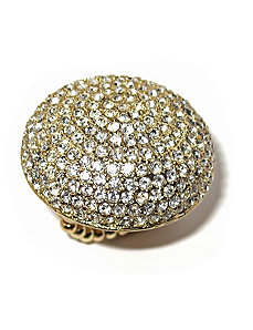 Crystal Dome Stretch Ring by PalmBeach Jewelry