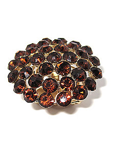 Orange Crystal Dome Stretch Ring by PalmBeach Jewelry