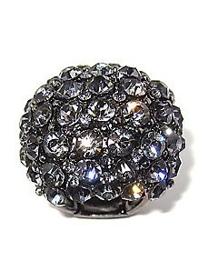 Multi-Grey Crystal Dome Ring by PalmBeach Jewelry